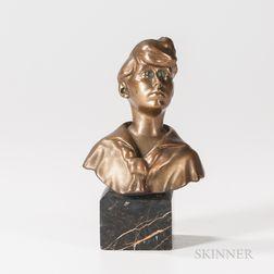 Bronze Bust of Boy in a Sailor Shirt