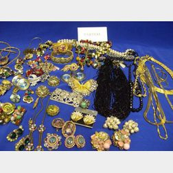 Group of Goldtone and Costume Jewelry