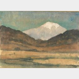 Attributed to Diego Rivera (Mexican, 1886-1957)    Mountain Peaks