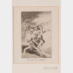 Francisco de Goya (Spanish, 1746-1828)      Lot of Three Plates From   LOS CAPRICHOS