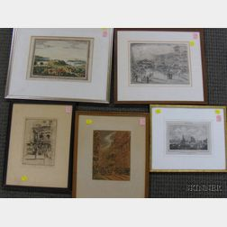Lot of Eight Framed Prints and Works on Paper