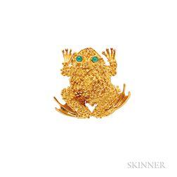 18kt Gold Toad Brooch