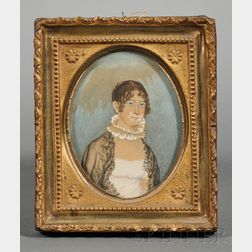Portrait Miniature of a Young Woman