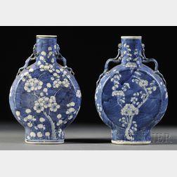Pair of Moon Flask Vases