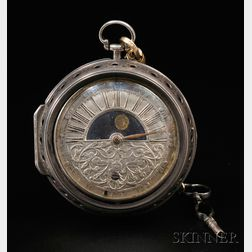 """Nicolaus Rugendas """"Sun and Moon"""" Dial Pair Case Watch"""