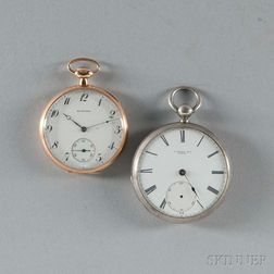 Howard 14kt Gold and Coin Silver Open-face Watches