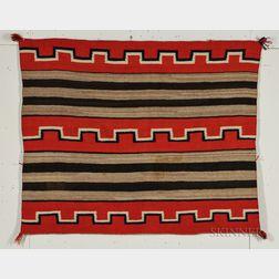 Navajo Woman's Wearing Blanket
