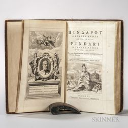Pindar (c. 522-c. 446 B.C.) Olympia, Nemea, Pythia, Isthmia.   Edited by Robert Welsted (1671-1735) and Richard West (1672-1716)