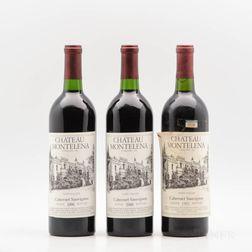 Chateau Montelena Cabernet Sauvignon Estate, 3 bottles