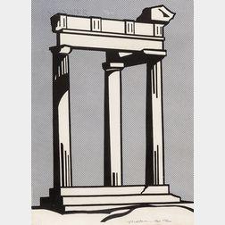 Roy Lichtenstein (American, 1923-1997)      Temple