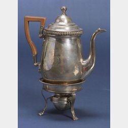 Scottish George III Silver Coffeepot on Stand