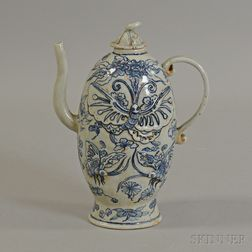 Blue and White Covered Ewer