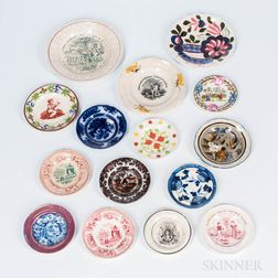Fifteen Small Ceramic Plates