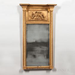 Large Gilt Tabernacle Mirror