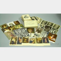 Approximately Eighty Prints and Postcards of Authors, People, Busts of Roman Statesmen, and a Boxed Set of French History of Kings and