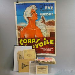 Group of Assorted Printed Broadsides, and a Group of French Movie Posters