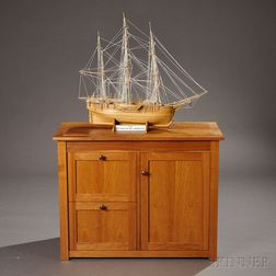 Geoffrey Warner Cabinet and a Ship Model