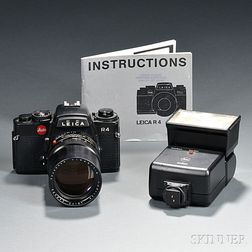 Leica R4 with Elmarit-R Lens and Accessories