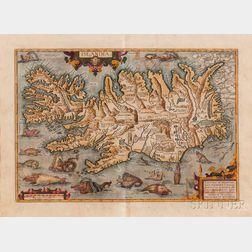 Iceland. Abraham Ortelius (1527-1598) Islandia