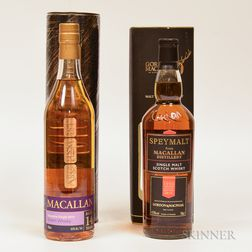 Mixed Macallan, 2 70cl bottles (ot)