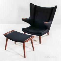 Hans J. Wegner for AP Stolen Papa Bear Chair and Ottoman