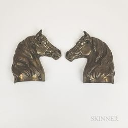 Polished Cast Iron Horse Head Finial