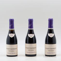 F. Magnien Gevrey Chambertin Seuvrees 2002, 3 demi bottles