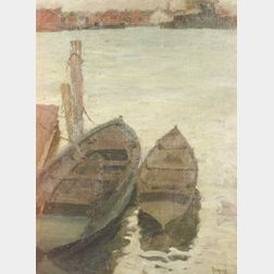 Walter Farndon (American, 1876-1964)  Two Rowboats