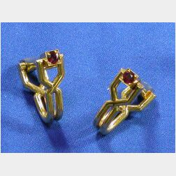 18kt Gold and Ruby Cufflinks