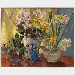 Frances Anne Johnston (Canadian, b. 1910)    Spring Flowers