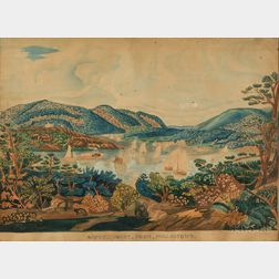 After William James Bennett (Anglo-American, c. 1784-1844)      WEST POINT, FROM PHILLIPSTOWN.