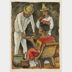 Diego Rivera  (Mexican, 1886-1957)      Vendedora de Pozole