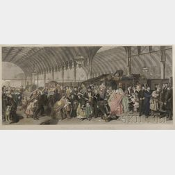 Francis Holl (British, 1815-1884), After William Powell Frith (British, 1819-1909)      The Railway Station