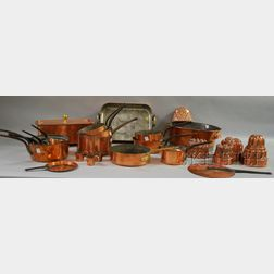 Twenty-three Pieces of Mostly French Copper Cooking and Kitchenware