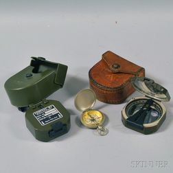 Three Military Compasses