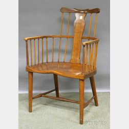 Stickley Bros. Colonial Revival Cherry Windsor-style Armchair.