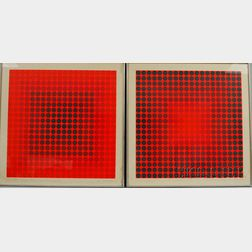 Victor Vasarely (French/Hungarian, 1906-1997)      Two Works: Pokol BC