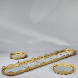 Seven-piece Empire Ormolu Surtout de Table
