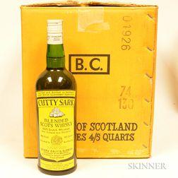 Cutty Sark, 12 4/5 quart bottles (oc)