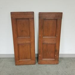 Two Pairs of Painted Panels