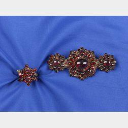Two Garnet Jewelry Items