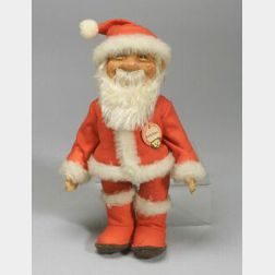 Steiff Santa Claus and Two Dolls