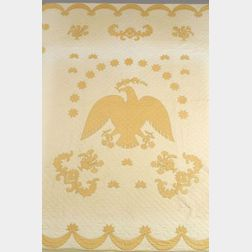 Appliqued Cotton Eagle Quilt