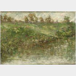 Emma B. King (American, 1858-1933)  On the River Bank