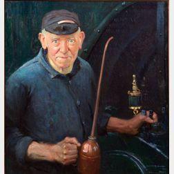Gerrit A. Beneker (American, 1882-1934)    Bill Rollins, Engineer