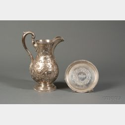 Coin Silver Water Presentation Pitcher and Tray