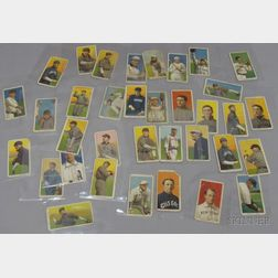 Thirty-five 1909-1911 T206 Sweet Caporal Cigarettes American League Baseball Cards