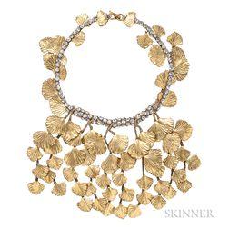 Vintage Ginkgo Leaf Necklace