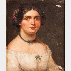 American/European School, 19th Century      Two Portraits: Man