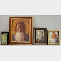 John Mulcahy (American, b. 1931)      Six Portraits or Figural Works